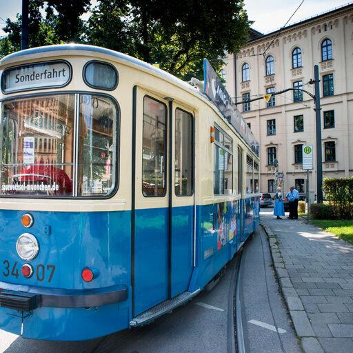 Мюнхен. Трамвай. С историей