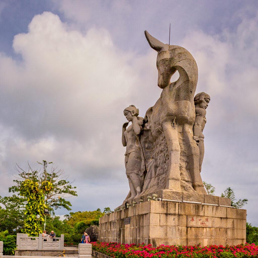 Санья: парк «Олень повернул голову»