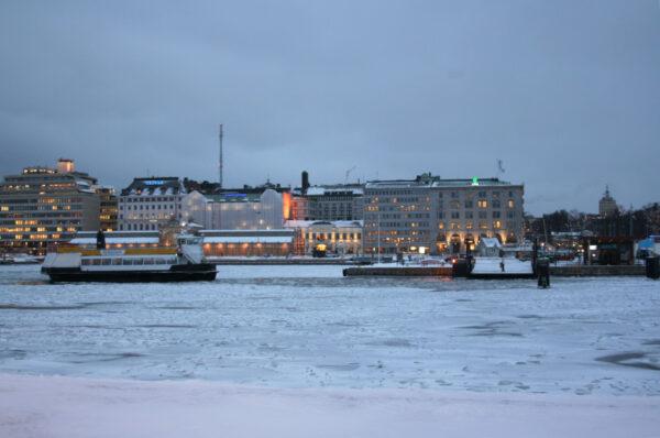 Зимний Хельсинки икрепость Свеаборг