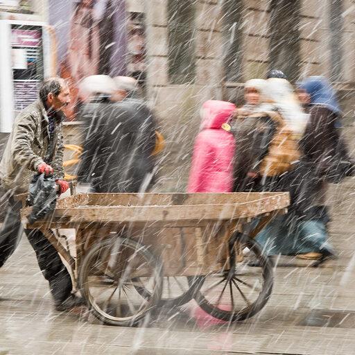 Снежный январский день в Стамбуле