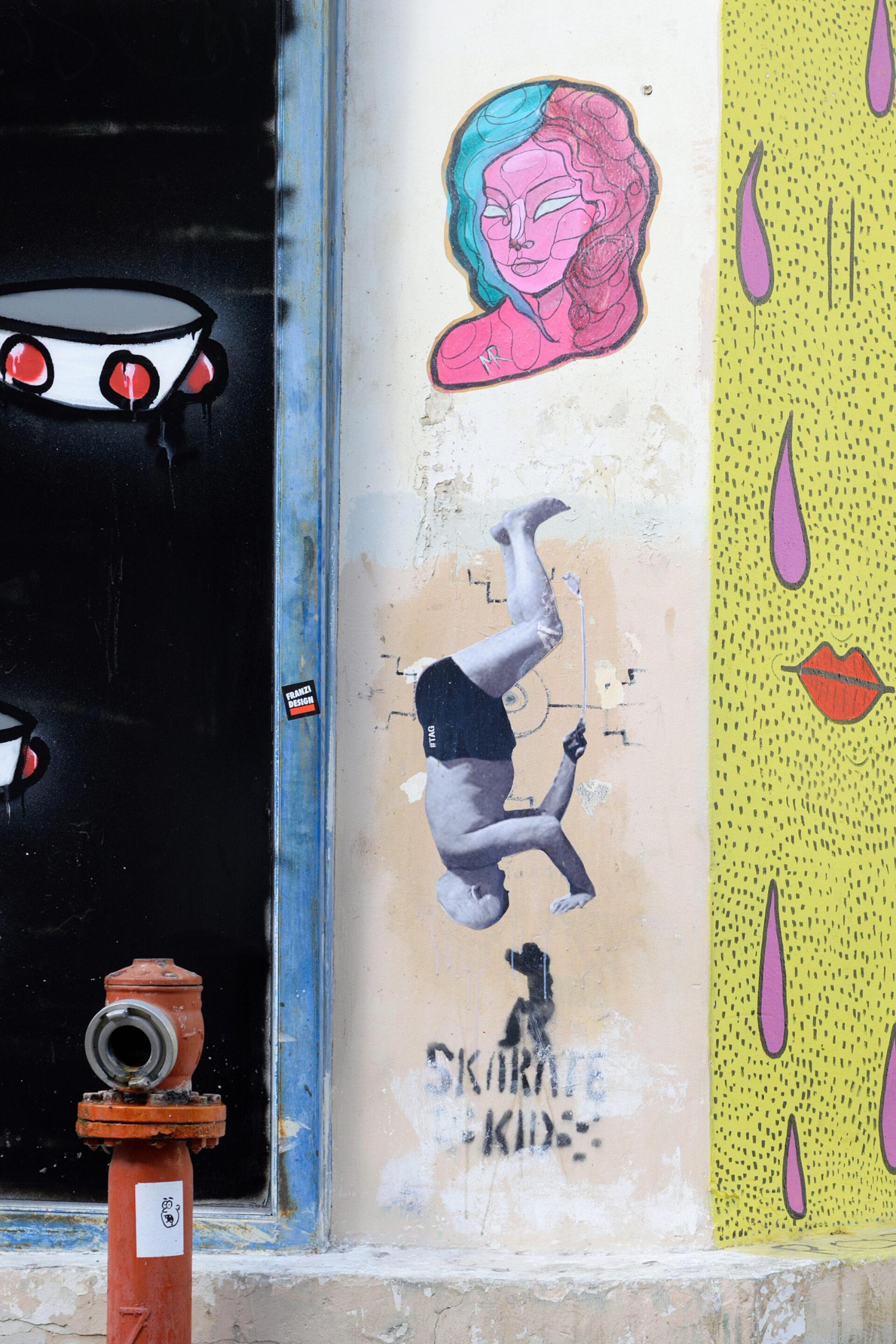 Граффити наулочке Биньямин.