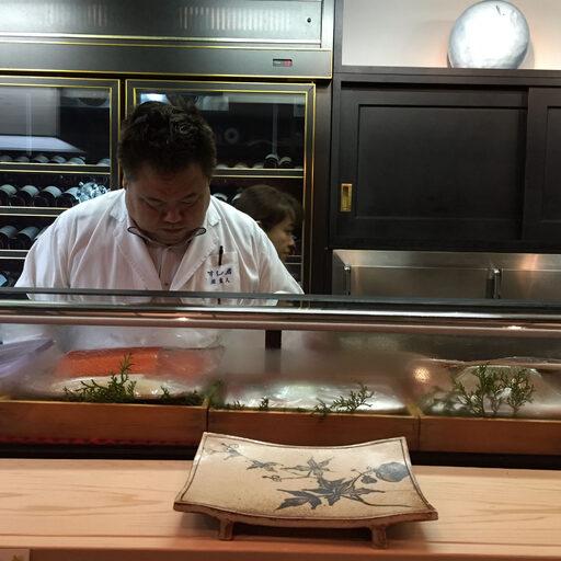 Аутентичный японский ресторан суши Sushi Iwa в Киото