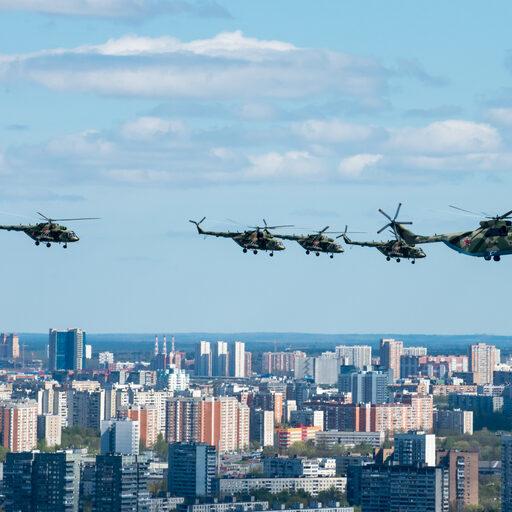 72 самолета и вертолета над Москвой. АвиаПарадПобеды 2017